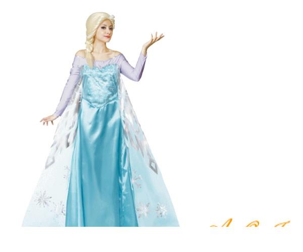 レディ 95R325 エルサアナと雪の女王 仮装 パーティ プリンセス Elsa the Snow Queen of Arendelle Frozen ディズニー映画アナと雪の女王 シリーズ エルザ♪☆AOIコレクションのコスプレ♪コスプレ 衣装 コスチューム 大
