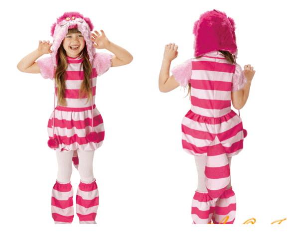 【キッズ】【95R331】チェシャ猫【アリス】【Alice】【不思議の国のアリス】【Cheshire Cat】【アリス・イン・ワンダーランド 】【仮装】【コスプレ】新作アリスのコスチューム!キュートに仕上がり☆AOIコレクションのコスプレ♪【コスチューム】【 】【大 】