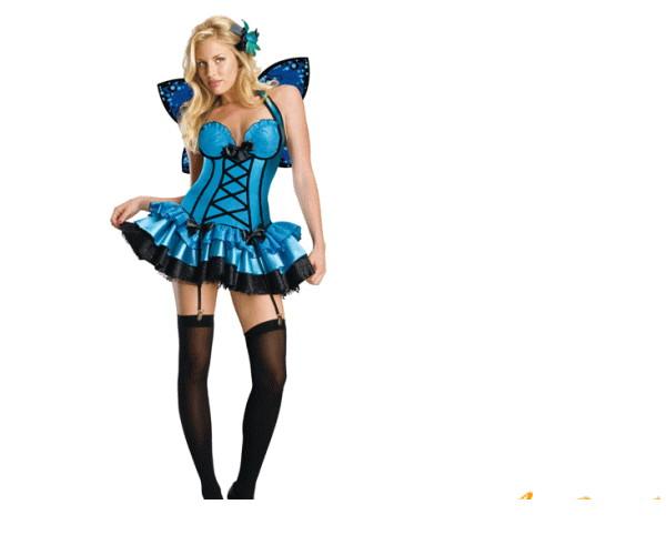 【レディ】【889R137】ファンタジーフェアリー【ドレス】【妖精】【フェアリー】【蝶々】【仮装】水辺を飛ぶような青い妖精が登場☆AOIコレクションのコス♪【ハロウィン】【パーティ】【コスプレ】【衣装】【コスチューム】【 】【大 】