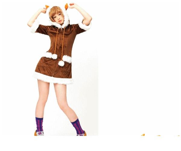 レディ XM(C)-14 ハッピートナカイでんぱ組 クリスマス トナカイ アニマル ソリ パーティ でんぱ組がイメージキャラクターのクリスマス衣装☆AOIコレクションのコス♪コスプレ 衣装 コスチューム   大
