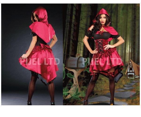 レディ 89P35 DREAMGIRL いたずらリトルレッド Little Red赤頭巾ちゃん ドリームガール アメリカ ブランド パーティ セレブ愛用のドリームガールコレクション AOIコレクションのコス♪コスプレ 衣装 コスチューム