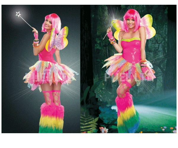 レディ 95P66 DREAMGIRL 虹の妖精 Rainbow Fairy妖精 フェアリー ドリームガール アメリカ ブランド パーティ セレブ愛用のドリームガールコレクション AOIコレクションのコス♪コスプレ 衣装 コスチューム