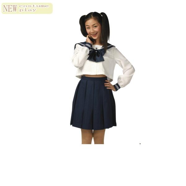 スノーセーラー♪シックな紺色リボンとシンプルな形が清楚な優等生に見せてくれるセーラー服★☆AOIコレクションのコスプレシリーズ♪コスプレ 衣装 コスチューム    大
