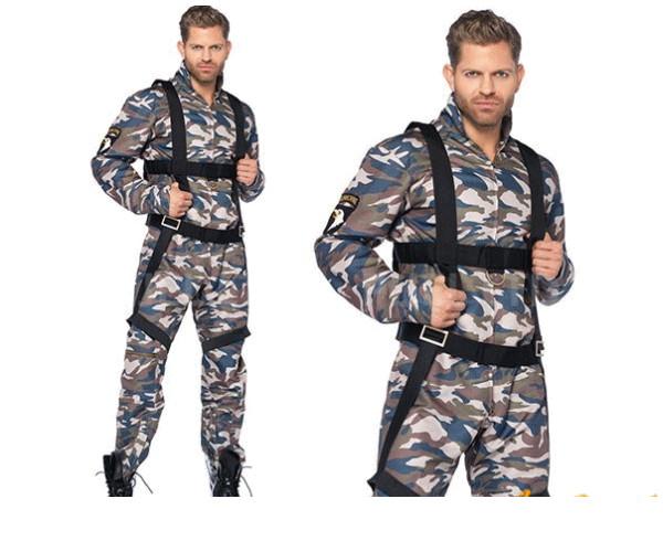 メンズ 85P279 LEG AVENUE 落下傘降下兵 Paratrooperレッグアベニュー アメリカ ブランド パーティ 本場のコスプレブランド レッグアベニューコレクション AOIコレクションのコス♪コスプレ 衣装 コスチューム 大