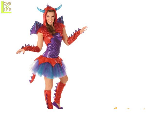 【レディ】アダルト ドラゴン【DRAGON】【龍】【竜】【ホラー】【コス】【仮装】【衣装】【コスプレ】【コスチューム】【ハロウィン】【パーティ】【イベント】【グッズ】【かわいい】今年のハロウィンはかわいいコスチュームでかっこよく目立ちましょう