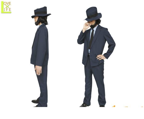 メンズ 大泥棒 次元次元大介 泥棒 アニメ ルパン3世 宴会 怪盗 仮装 衣装 コスプレ コスチューム ハロウィン パーティ イベント かわいい みんなでお揃いのコスチュームを着て盛り上がろう かっこよく着こなして下さい