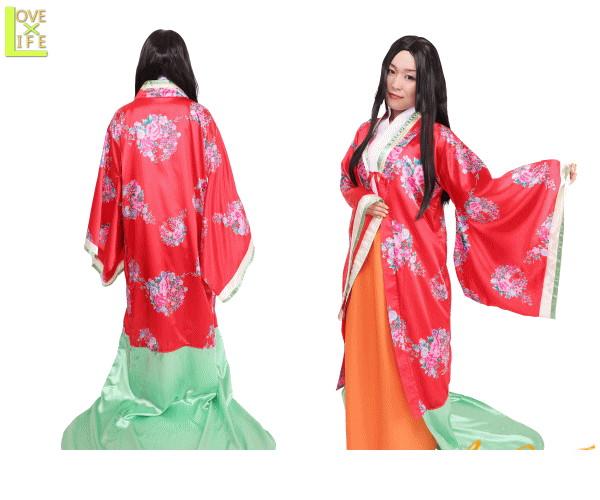 レディ 姫様お姫様 和風 日本 昔話 童話 時代劇 江戸 仮装 衣装 コスプレ コスチューム ハロウィン パーティ イベント かわいい 日本の歴史コス多数登場 劇にも使えそうな豊富なバリエーションでかわいくコスプレ