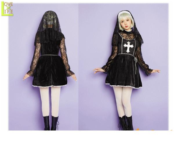 レディ LLL Holy Dollシスター AMO 教会 ブランド グリム 仮装 衣装 コスプレ コスチューム ハロウィン パーティ イベント かわいい かわいい衣装でかっこよく着こなし AMOプロデュースのコスチュームブランド