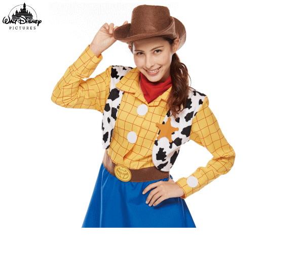 【レディース】ウッディ【Woody Pride】【トイストーリー】【ピクサー】【ディズニー】【Disney】【ハロウィン】【コスプレ】【コスチューム】【衣装】【仮装】【かわいい】