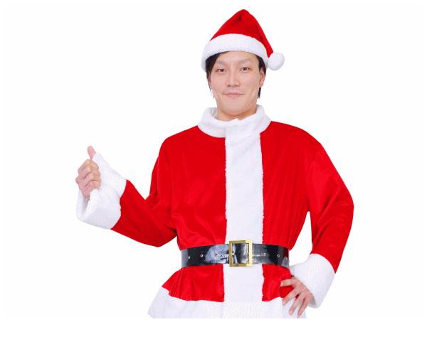 UNISEX 光るサンタジャケットELEX 光る クリスマス サンタ サンタクロース コスプレ コスチューム 衣装 仮装 かわいい
