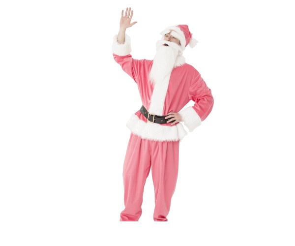 メンズ GOGOサンタサンピンク サンタ クリスマス コスプレ コスチューム 衣装 仮装 パーティ かわいい