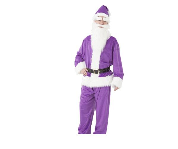メンズ GOGOサンタサンパープル サンタ クリスマス コスプレ コスチューム 衣装 仮装 パーティ かわいい