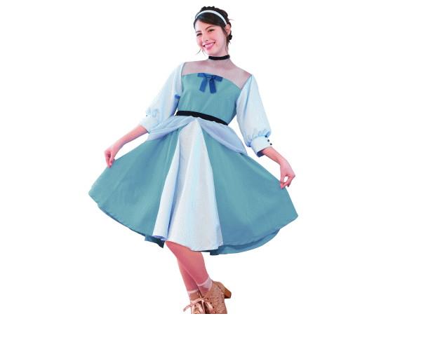 レディ シンデレラプリンセス クラシックワンピース ディズニー Disney ハロウィン コスプレ コスチューム 衣装 仮装 集団仮装 かわいい