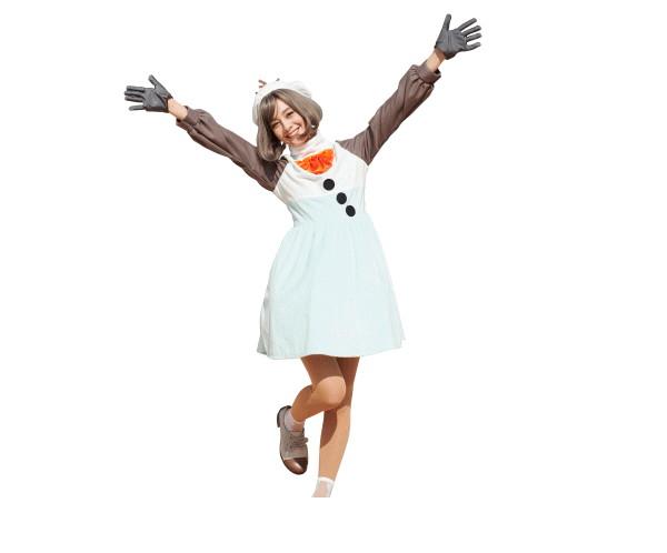レディ オラフOLAF アナと雪の女王 ディズニー Disney ハロウィン コスプレ コスチューム 衣装 仮装 集団仮装 かわいい