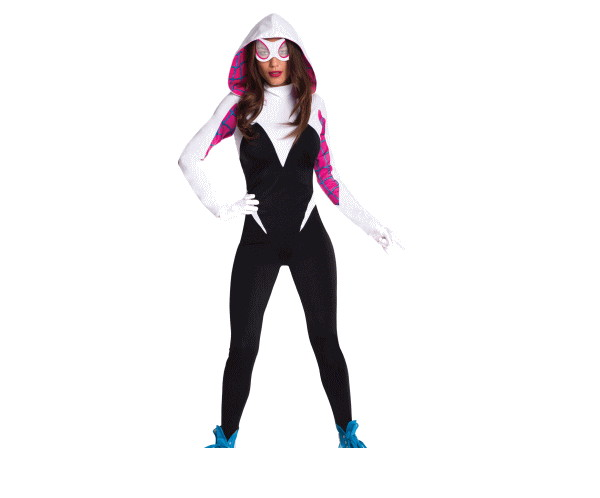 レディ スパイダーグウェンSpider-Man マーベル 映画 コスチューム 衣装 イベント かわいい コスプレ ハロウィン パーティ イベント