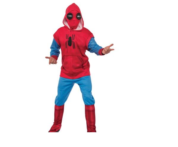 メンズ スパイダーマン・ホームカミングスパイダーマン ホームメイドスーツ マーベル クモ 蜘蛛 ハロウィン コスプレ コスチューム 衣装 仮装 かわいい