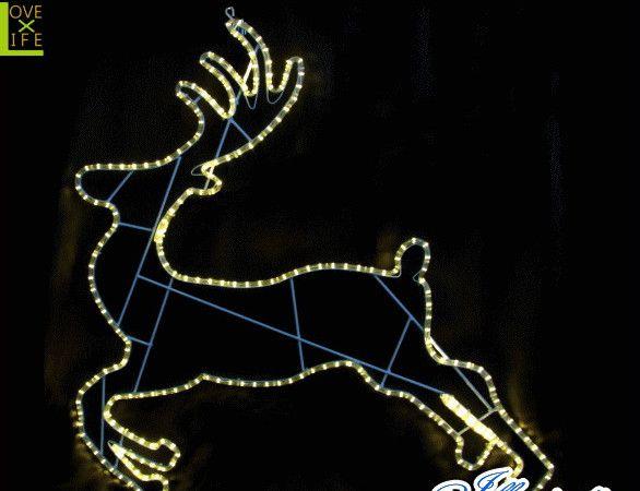 【LED】【2D】【モチーフ】【L2D(C)M283】LED ランディングトナカイ【壁掛け】【トナカイ】【アニマル】【ゴールド】かっこいいトナカイのシルエット AOIデパートのLEDイルミネーション【イルミネーション】【クリスマス】【電飾】【省エネ】【大人気】