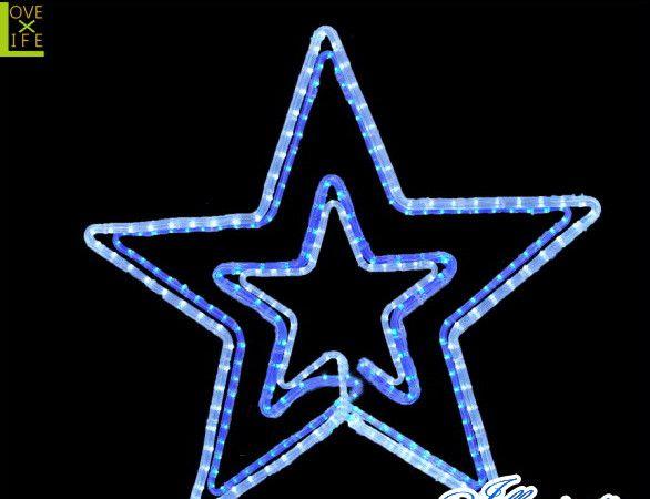 【LED】【2D】【モチーフ】【L2D(C)M502】LED ダブルスターホワイトブルー【壁掛け】【流れ星】【スター】【星】王道の組み合わせホワイトブルーが今年も登場 AOIデパートのLEDイルミネーション【イルミネーション】【クリスマス】【電飾】【省エネ】