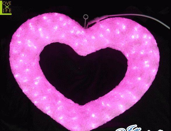 【LED】【3D】【モチーフ】【L3D(C)357】LED クリスタルハート【立体】【吊るし】【ハート】【ラブ】【ピンク】まるみを帯びたかわいいハートモチーフが登場 AOIデパートのLEDイルミネーション【イルミネーション】【クリスマス】【電飾】【省エネ】