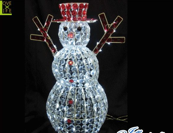 【LED】【3D】【モチーフ】【L3D(C)358】LED クリスタルスノーマン【立体】【置き形】【雪だるま】【スノーマン】クリスタルで覆われたゴージャスなスノーマンが登場 AOIデパートのLEDイルミネーション【イルミネーション】【クリスマス】【電飾】【省エネ】