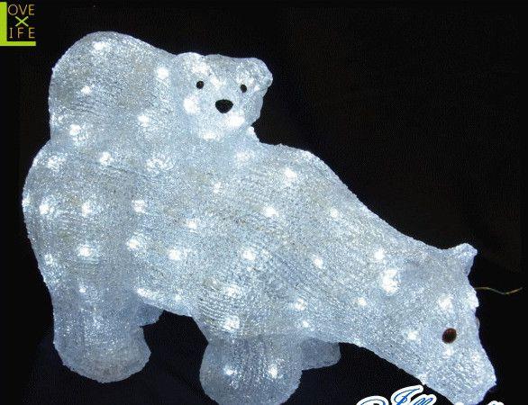 【LED】【3D】【モチーフ】【L3D(C)330】LED マザーベア ベイビーベア【立体】【置き形】【くま】【クマ】【熊】【ベア】【ベアー】かわいい親子グマがキュートに登場 AOIデパートのLEDイルミネーション【イルミネーション】【クリスマス】【電飾】【省エネ】