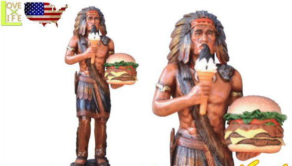 【アメリカン雑貨】【BIG SALES PROMOTION DOLL】インディアンとハンバーガー【INDIAN WITH HAMBUGER】【大きい】【大型商品】【人形】【アメリカ雑貨】【アメリカ】【USA】【かわいい】【おしゃれ】ドデカのドールでアイキャッチ 目立つならコレ 精巧な作りでグッド