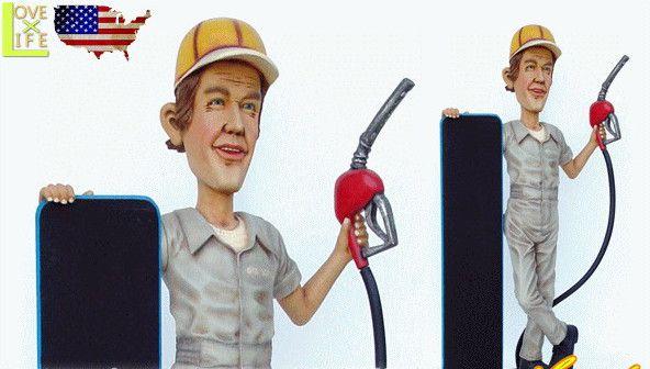 【アメリカン雑貨】【BIG SALES PROMOTION DOLL】ガソリンマンとメニュー【GASOLIN MAN WITH MENU】【黒板】【メニュー】【大型商品】【人形】【アメリカ雑貨】【アメリカ】【USA】【かわいい】【おしゃれ】ドデカのドールでアイキャッチ 目立つならコレ 精巧な作りでグッド
