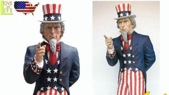 【アメリカン雑貨】【BIG SALES PROMOTION DOLL】リンカーン【UNCLE SAM】【置物】【オブジェ】【大型商品】【人形】【アメリカ雑貨】【アメリカ】【USA】【かわいい】【おしゃれ】ドデカのドールでアイキャッチ 目立つならコレ 精巧な作りでグッド 目立ちます