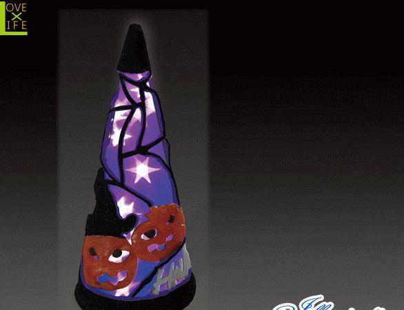 【ハロウィン】LED クリスタル ハロウィンコーン パープル【S】【コーン】【クリスマス】【イルミネーション】【電飾】【装飾】【飾り】【パーティ】【イベント】【光】【LED】【モチーフ】【かわいい】ハロウィンイルミネーションも大人気 素敵なパーティになっちゃいます