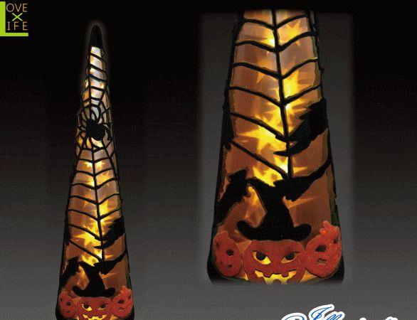 【ハロウィン】LED クリスタル ハロウィンコーン オレンジ【L】【コーン】【クリスマス】【イルミネーション】【電飾】【装飾】【飾り】【パーティ】【イベント】【光】【LED】【モチーフ】【かわいい】ハロウィンイルミネーションも大人気 素敵なパーティになっちゃいます