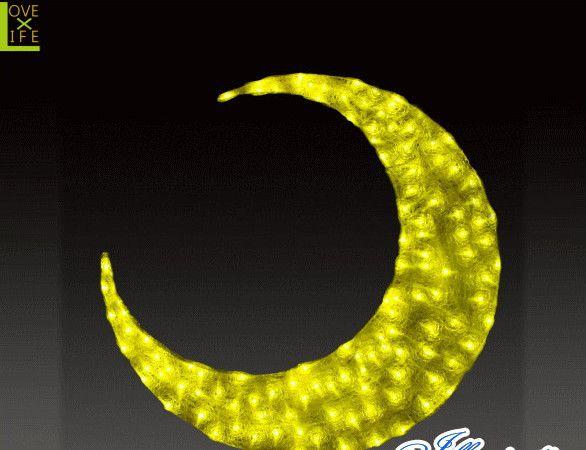 【ハロウィン】LED クリスタル ムーン【月】【三日月】【2D】【クリスマス】【イルミネーション】【電飾】【装飾】【飾り】【パーティ】【イベント】【光】【LED】【モチーフ】【かわいい】ハロウィンイルミネーションも大人気 素敵なパーティになっちゃいます