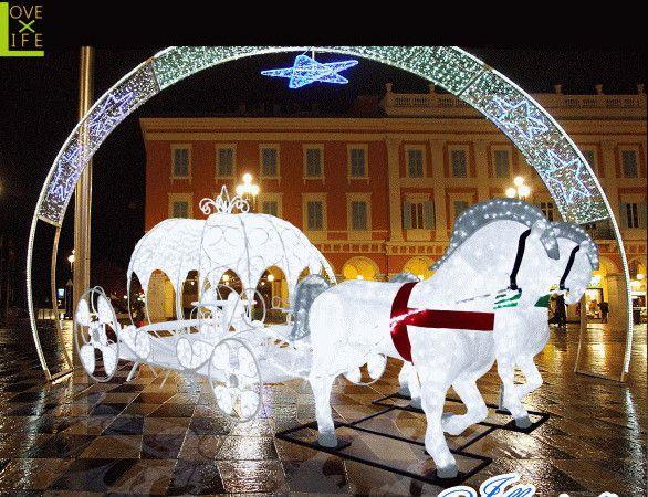 【イルミネーション】LED クリスタルグロー プリンセスの馬車【馬車】【3D】【大型用品】【クリスマス】【イルミネーション】【電飾】【装飾】【飾り】【パーティ】【イベント】【光】【LED】【モチーフ】【かわいい】今年もかわいいイルミネーションで飾り付け