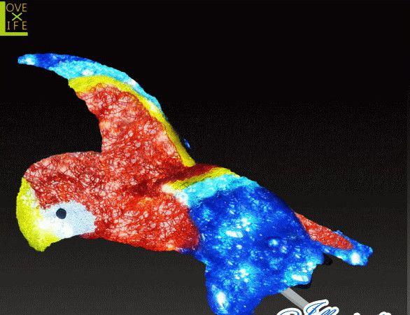 【LED】【イルミネーション】【大型商品】LEDクリスタル フライングコンゴウ【コンゴウ】【インコ】【いんこ】【オウム】【鳥】【アニマル】【動物】【電飾】【モチーフ】【クリスマス】【クリスタル】【かわいい】今年もかわいいイルミネーションで飾り付け