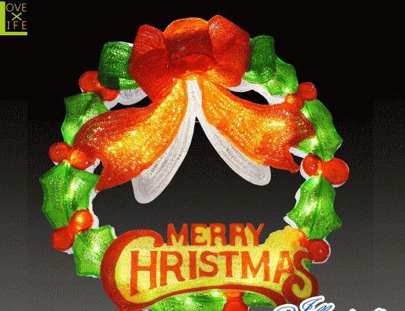 【イルミネーション】LEDクリスタル リース【グリーンレッド】【玄関】【壁掛け】【2D】【装飾】【飾り】【アート】【輝き】【電飾】【モチーフ】【クリスマス】【クリスタル】【かわいい】かわいい装飾リースでクリスマスが一層華やかに演出できます
