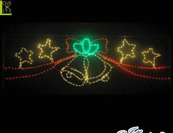 【イルミネーション】LED ベルとスター【星】【スター】【ベル】【壁掛け】【2D】【装飾】【飾り】【アート】【輝き】【電飾】【モチーフ】【クリスマス】【クリスタル】【かわいい】今年もキュートなモチーフが多数新登場 かわいく飾り付けてください