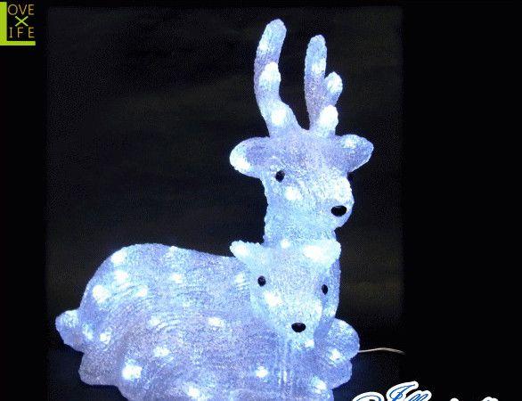 【イルミネーション】LED クリスタル トナカイ親子【トナカイ】【動物】【アニマル】【置物】【3D】【装飾】【飾り】【アート】【輝き】【電飾】【モチーフ】【クリスマス】【クリスタル】【かわいい】今年もキュートなモチーフが多数新登場 かわいく飾り付け
