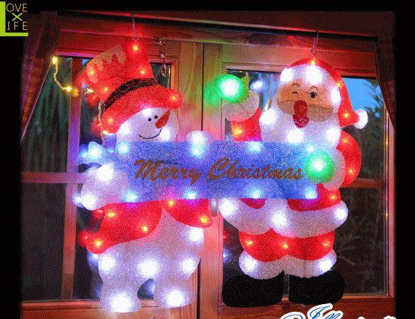 【イルミネーション】LED サンタとスノーマン【サンタ】【ウィンドウ】【デコレーション】【窓】【室内用】【小物】【グッズ】【室内】【装飾】【飾り】【電飾】【モチーフ】【クリスマス】【かわいい】今年もキュートなモチーフが多数新登場 かわいく飾り付け