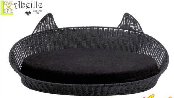 【黒猫雑貨】ペット用バスケット【ネコ】【巣】【ベッド】【小屋】【ネコ用】【猫】【黒猫】【キャット】【ねこ】【生活雑貨】【グッズ】【インテリア雑貨】【かわいい】