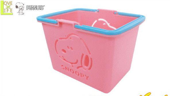 日本製 スヌーピー SNOOPY ミニカラーバスケット 倉 ピンク ファクトリーアウトレット ピーナッツ グッズ かわいい 買い物カゴ 大大人気 キャラクター おもちゃ カゴ