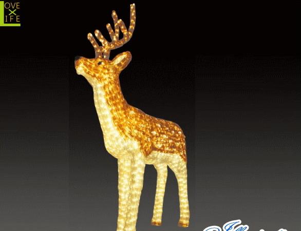 【LED】【イルミネーション】【大型商品】トナカイ【A】【鹿】【シカ】【奈良】【アニマル】【動物】【電飾】【モチーフ】【クリスマス】【クリスタル】【かわいい】