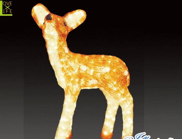 【LED】【イルミネーション】【大型商品】トナカイ【C】【鹿】【シカ】【奈良】【アニマル】【動物】【電飾】【モチーフ】【クリスマス】【クリスタル】【かわいい】