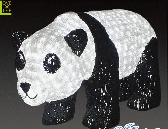 【LED】【イルミネーション】【大型商品】パンダ【A】【熊猫】【ぱんだ】【アニマル】【動物】【電飾】【モチーフ】【クリスマス】【クリスタル】【かわいい】