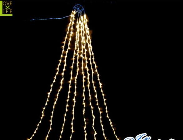 【イルミネーション】ドレープライト【電球色】【LED】【1008球】【冬】【簡単】【工事】【均等】【電飾】【装飾】【クリスマス】【輝き】【美しい】【かわいい】【イルミ】【ライト】