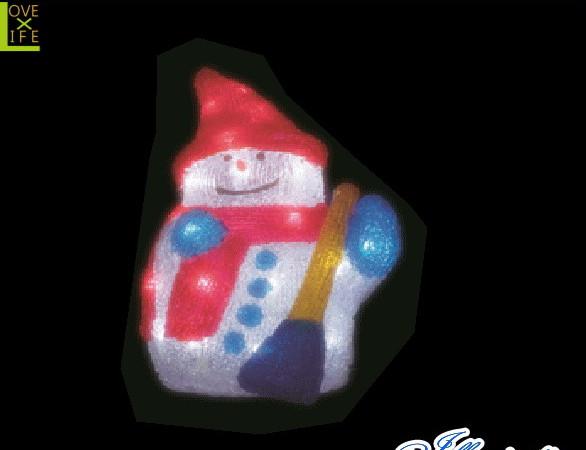 【電源セット】【イルミネーション】スノーマン【B】【雪だるま】【クリスタル】【立体】【サンタさん】【グロー】【LED】【クリスマス】【電飾】【モチーフ】【かわいい】