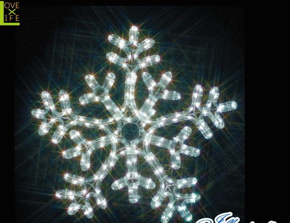 【電源セット】【イルミネーション】雪の結晶【白・白】【雪】【スノー】【スノーフレーク】【チューブ】【モチーフ】【装飾】【飾り】【LED】【クリスマス】【電飾】【モチーフ】【かわいい】