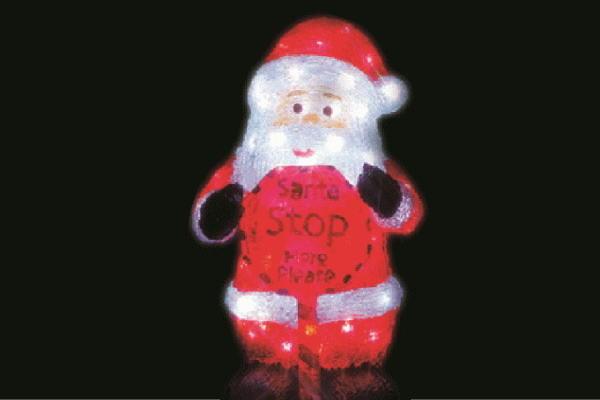 【電源セット】【イルミネーション】サンタクロース【Sサイズ】【サンタ】【クリスタル】【立体】【サンタさん】【グロー】【LED】【クリスマス】【電飾】【モチーフ】【かわいい】