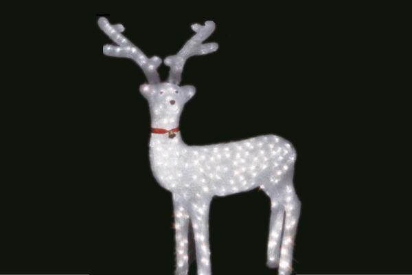 【電源セット】【イルミネーション】トナカイ【L】【となかい】【クリスタル】【立体】【動物】【アニマル】【グロー】【LED】【クリスマス】【電飾】【モチーフ】【かわいい】