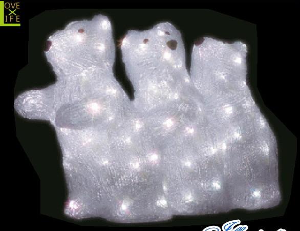 【電源セット】【イルミネーション】白クマ【C】【しろくま】【シロクマ】【クリスタル】【立体】【動物】【アニマル】【グロー】【LED】【クリスマス】【電飾】【モチーフ】【かわいい】