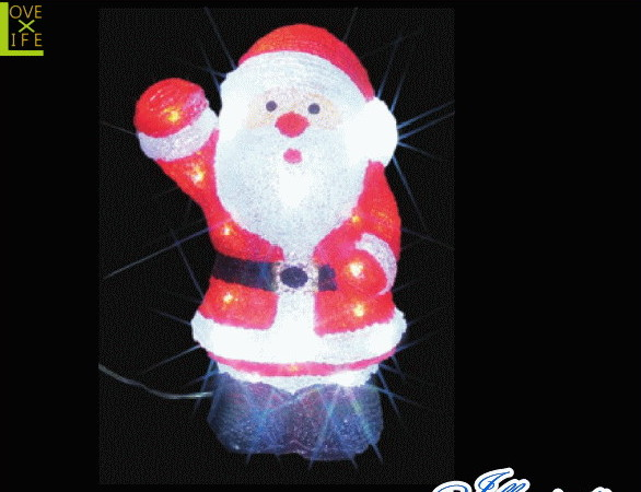 【イルミネーション】サンタクロース【A】【サンタ】【クリスタル】【立体】【サンタさん】【グロー】【LED】【クリスマス】【電飾】【モチーフ】【ローボルト】【かわいい】