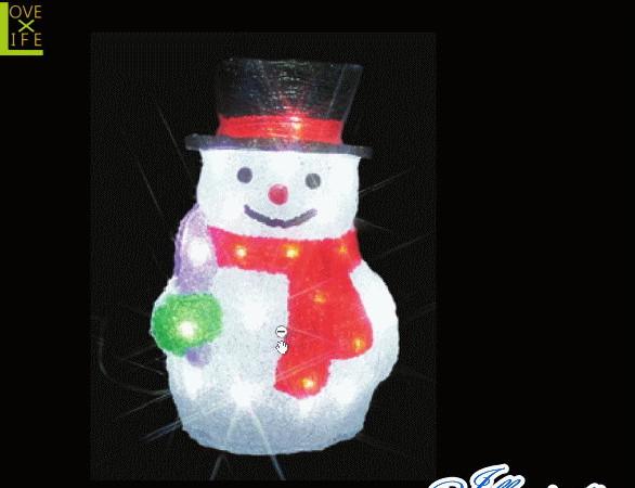 【イルミネーション】スノーマン【A】【雪だるま】【クリスタル】【立体】【サンタさん】【グロー】【LED】【クリスマス】【電飾】【モチーフ】【ローボルト】【かわいい】